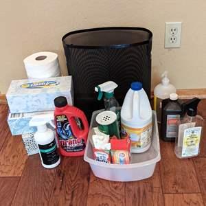 Lot # 81 - Cleaning/Bathroom Items Plus Wastebasket