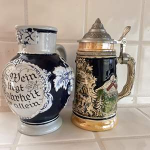 Lot # 94 - German Stein and Carafe