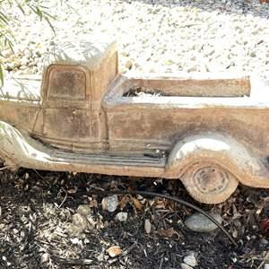 Lot # 109 - Amazing Cement Vintage Pickup Truck Planter