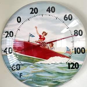 Lot # 121 - Restoration Hardware Vintage Boating Thermometer