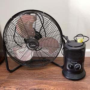 Lot # 123 - Honeywell Heater and Polar Aire Fan