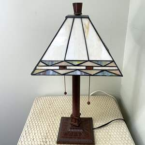 Lot # 125 - Iridescent Glass Lamp