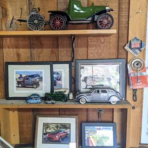 Lot # 162 - Collectible Model Cars and Auto Pictures