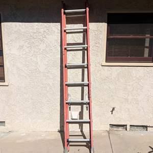 Lot # 165 -  Werner 16FT Fiberglass and Aluminum Ladder 300LB