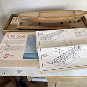 Lot # 132 - Wood Boat Model - Flying Cloud