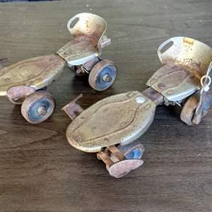 Lot # 169 - Vintage Roller Skates With Key!