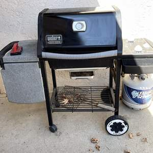 Lot # 216 - Weber Genesis Silver Propane Grill and Tank