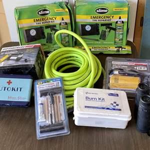 Lot # 208 - Automotive Items, Compressors, Tire Repair and Binoculars
