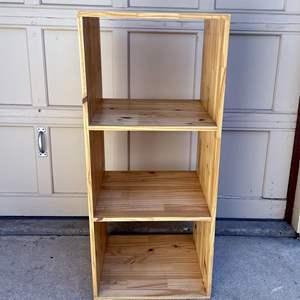 Lot # 223 - Cool Wood Open Cabinet/Shelves