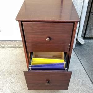 Lot # 228 - Wood Filing Cabinet