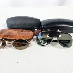 Lot # 215 - (3) Sunglasses, Armani Exchange, Oakley