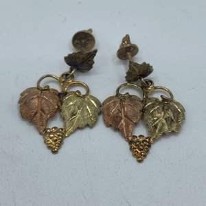 Lot # 2 - 10k Black Hills earrings (3.2g)