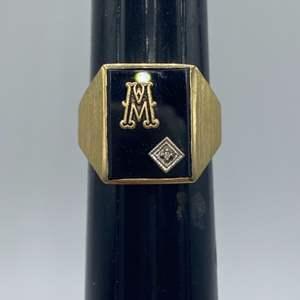 Lot # 3 - Men's 10k gold ring (8.3g)