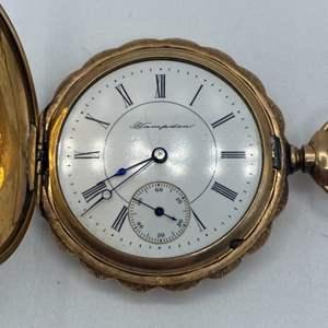 Lot # 7 - Hamilton 14k 25 year warranted gold plate pocket watch