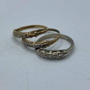 Lot # 11 - Wedding bands 14k gold (4.0g)