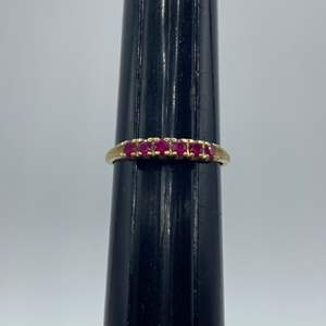 Lot # 17 - Ruby .18ctw and 14k gold band (1.7g)