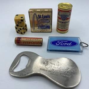 Lot # 34 - Vintage promotional brand items