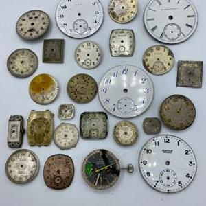Lot # 61 - Watch faces and other parts