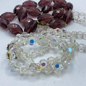 Lot # 66 - Vintage crystal and glass beads