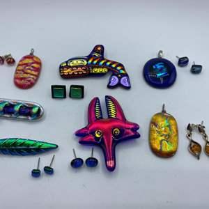 Lot # 69 - Glass art jewelry