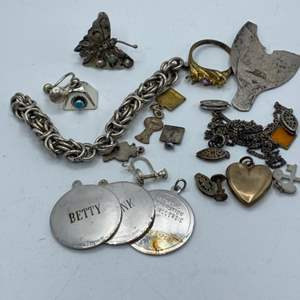 Lot # 71 - Sterling scrap and charms