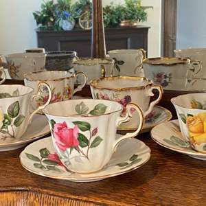 Lot # 84 - Teacup collection, Adderley, Kent and Limoge