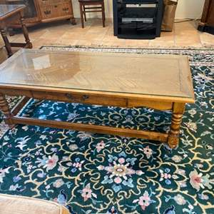 Lot # 87 - Set of three matching tables-one coffee table and 2 end tables