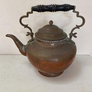 Lot # 93 - Extra large copper kettle