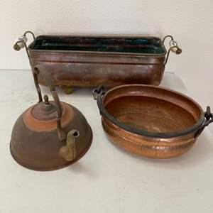 Lot # 95 - Copper items
