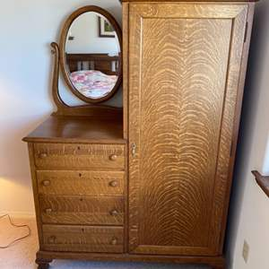 Lot # 97 - Antique wardrobe