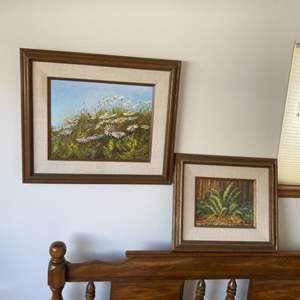 Lot # 102 - Original Ray Smith framed paintings on canvas