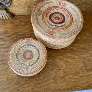 Lot # 115 - Handmade baskets