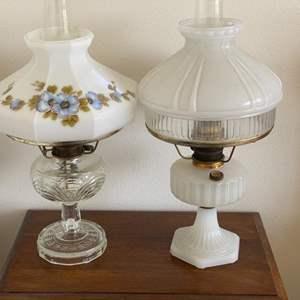 Lot # 127 - Aladdin gas hurricane lamps