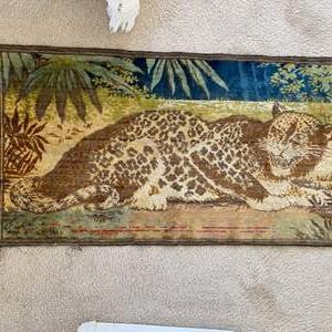 Lot # 128 - Antique leopard tapestry
