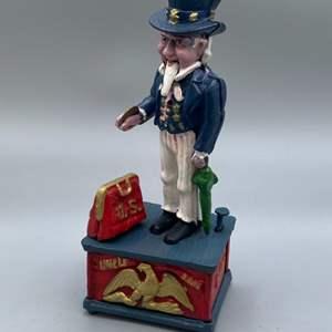 Lot # 141 - Cast-iron Uncle Sam bank