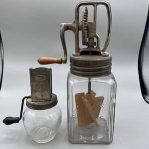 Lot # 156 - Dazey Churn and nut grinder