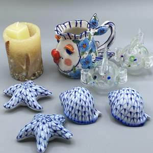 Lot # 164 - Herend salt and peppers and other sea inspired items