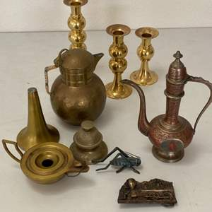 Lot # 184 - Vintage brass items