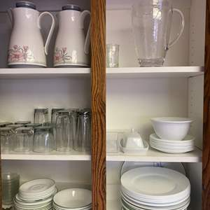 Lot # 210 - Corelle daily dishes, glassware and mugs