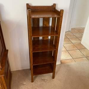 Lot # 214 - Mission style oak bookshelf