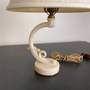 Lot # 221 - Vintage Aladdin Alacite uranium Milk Glass glass lamp
