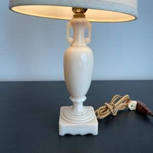 Lot # 222 - Vintage Aladdin Alacite uranium Milk Glass glass lamp