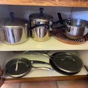 Lot # 236 - Cafalon and Farberware cookware