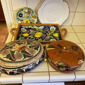 Lot # 239 - Soup tureens from Mexico, and other decorative dishes