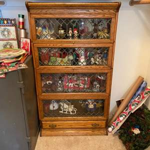 Lot # 243 - Fabulous lawyers bookcase with leaded glass doors in amazing shape