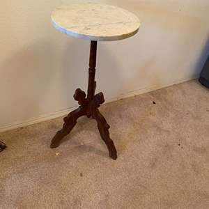 Lot # 245 - Vintage marble top table