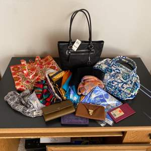 Lot # 246 - Purses, wallets and scarves (Some new w/tags)