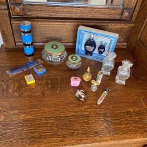 Lot # 247 - Ladies vanity treasures; perfume bottles and more