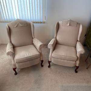 Lot # 248 - Bradington Young pair of reclining wing back chairs