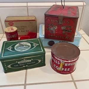 Lot # 262 - Vintage tins